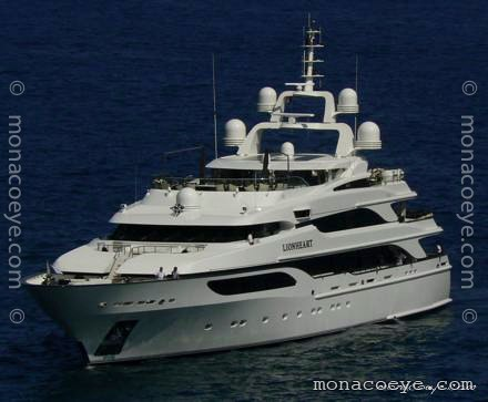 Yacht name: Lionheart Length: 206 ft • 63 m. Year: 2006. Builder: Benetti ...