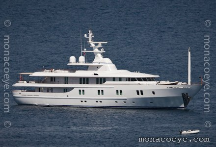 Yacht Name: New Sunrise Formerly: Numptia Length: 202 ft • 61 m. Year: 2000