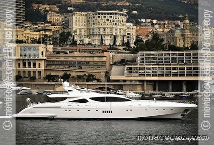 Yacht name: Force India (below) Formerly: Salvaje (above) • Mangusta 165 #1