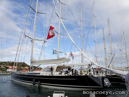 P2 in the port of Gustavia, before this year's St Barth's Bucket.