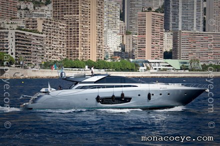 Riva 86 Domino leaves the Monaco Yacht Show