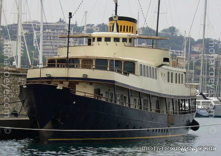 A friendly-looking large classic yacht built in former Yugoslavia.