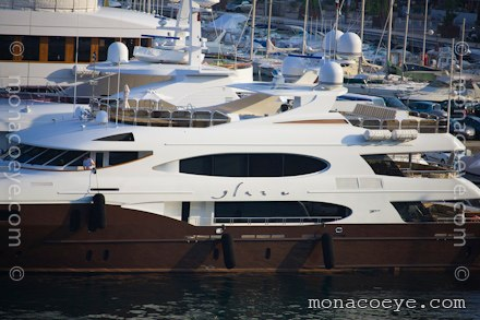 Lady Michelle was first presented at the 2007 Monaco yacht Show.