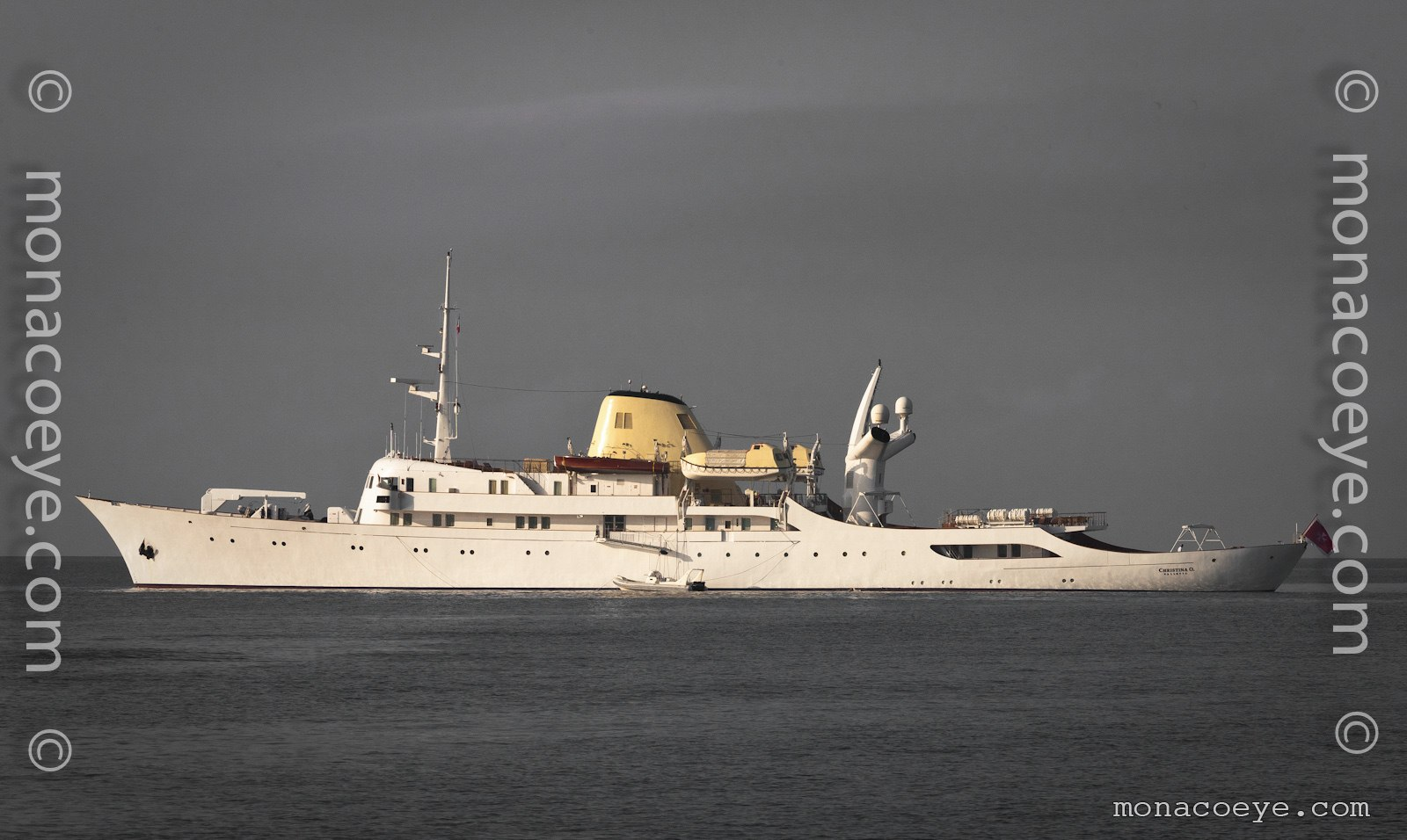 Christina O, 1943 design from Canadian Vickers. The famous yacht of Aristotle Onassis.