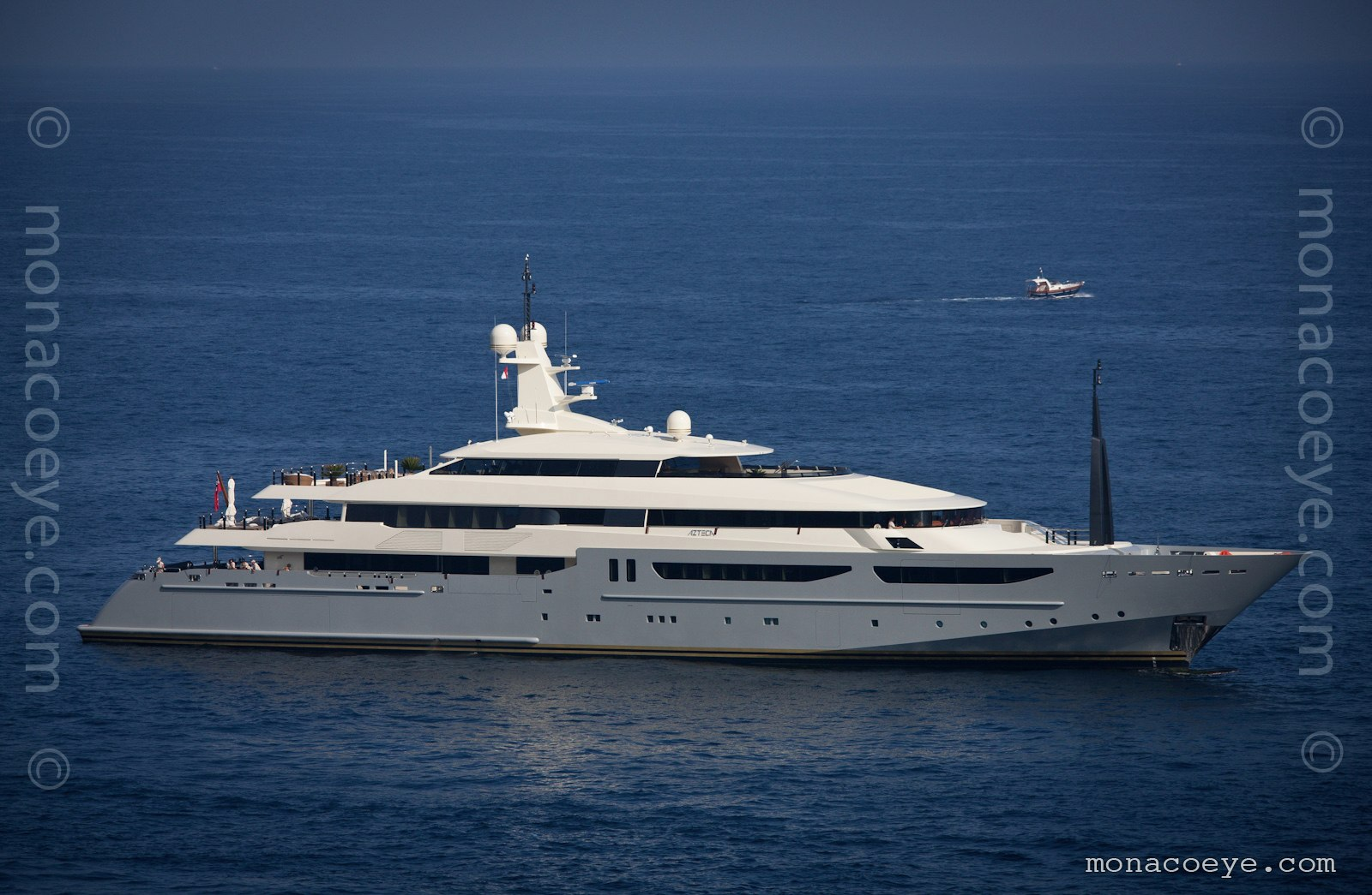 Azteca yacht. Formerly Clarena II. Built by CRN, designed by Nuvolari Lenard, delivered in 2009, 72 metres, build number 124
