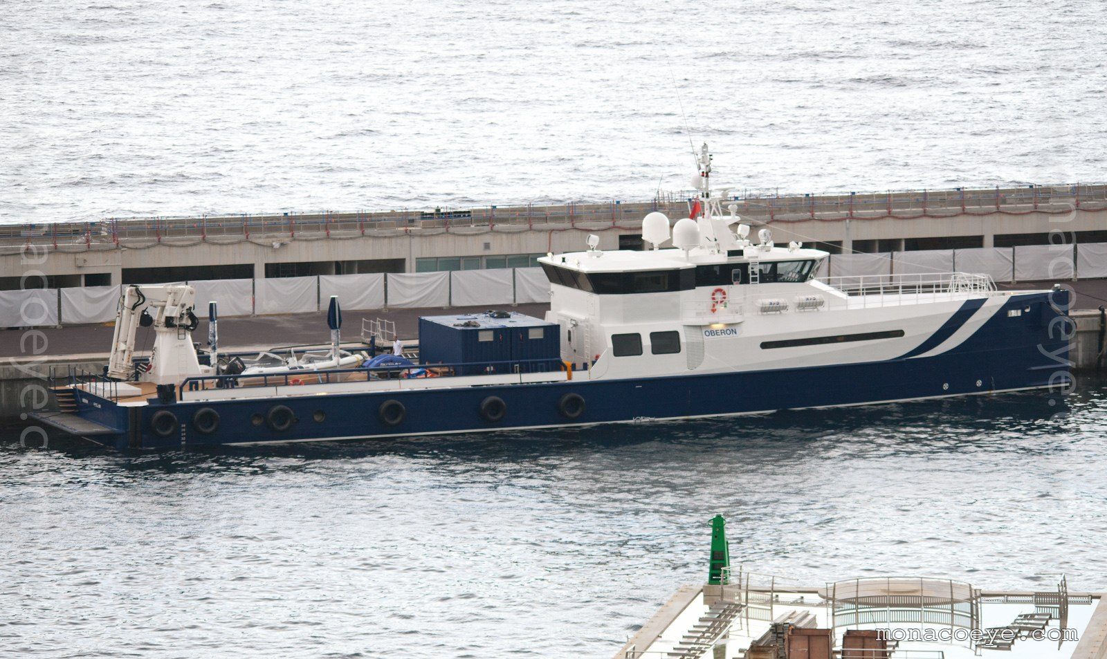 Oberon Sea Axe. Built by Damen, marketed by Amels, 2010, 51 metres, purpose-built yacht supply vessel