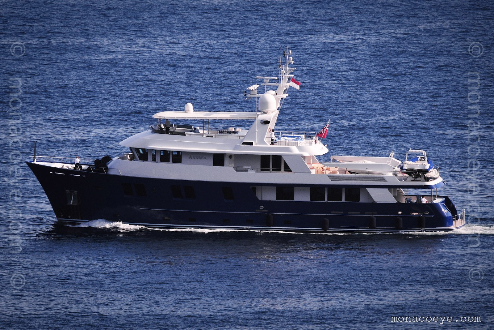 Andrea. Yacht built by Delta Marine, build number 126-002, 2003, 38 metres. Designed by Michael Kirchstein