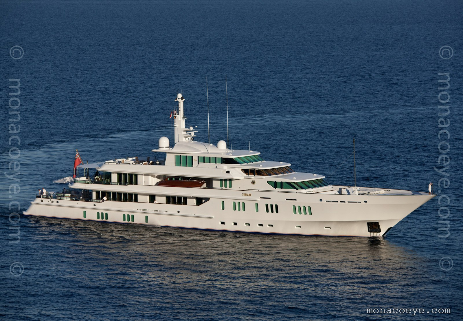 Siran, 1992 design from Feadship and Jon Bannenberg. Lengthened and heightened in 2007.