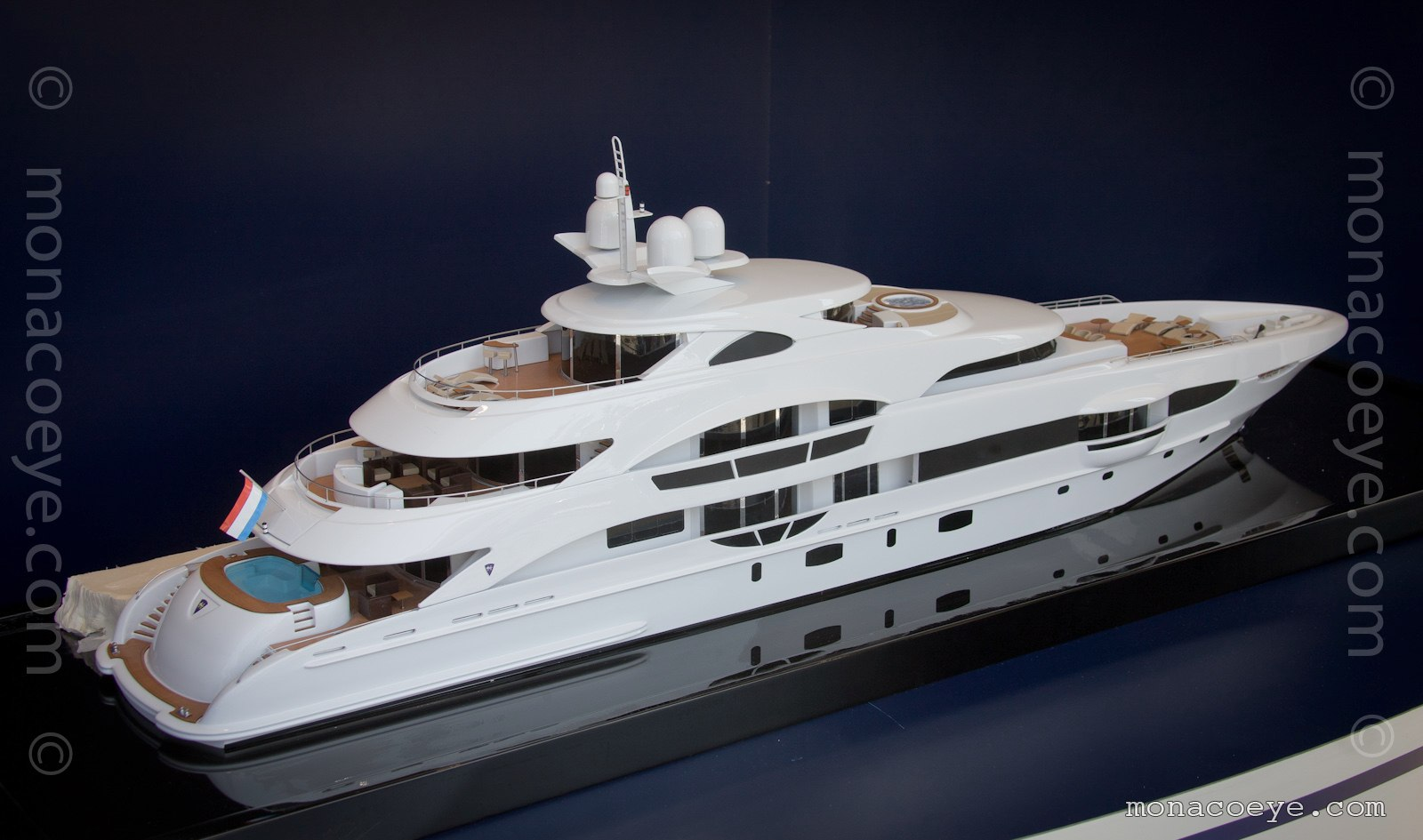 Model from Heesen at the 2009 Monaco Yacht Show