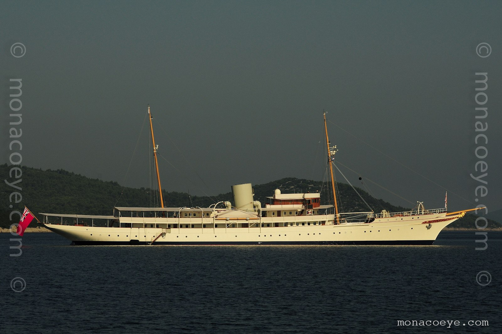 Nahlin yacht. Built by John Brown in 1930, 91 metres, architect GL Watson, recently restored