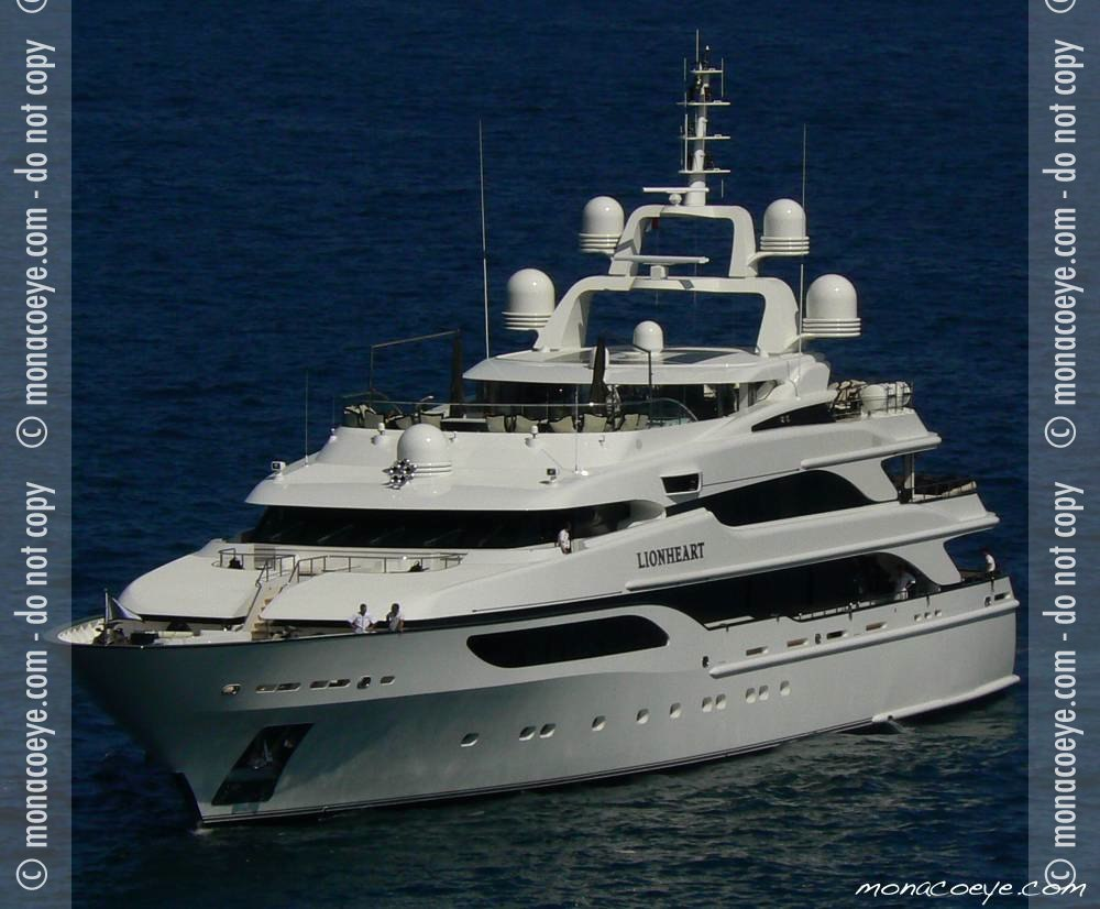 Previous 50m Benetti yacht also Lionheart. Consistent look.