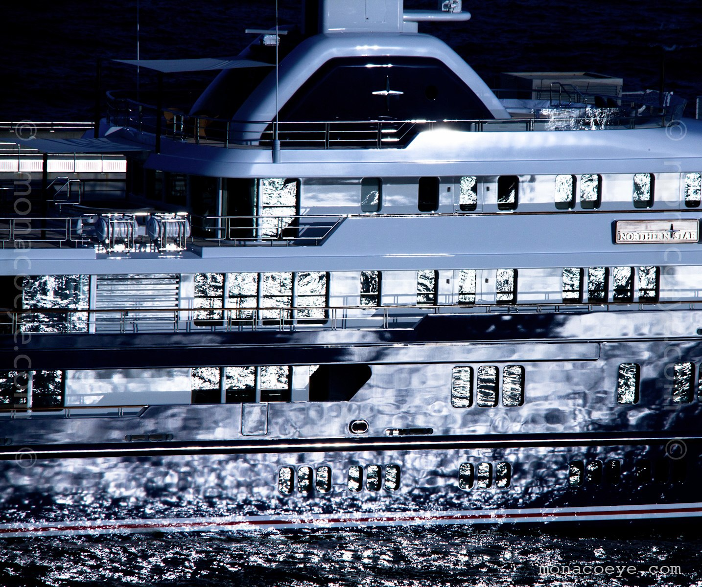 Northern Star yacht. Built by Lurssen, #13651, 2009, 75 metres