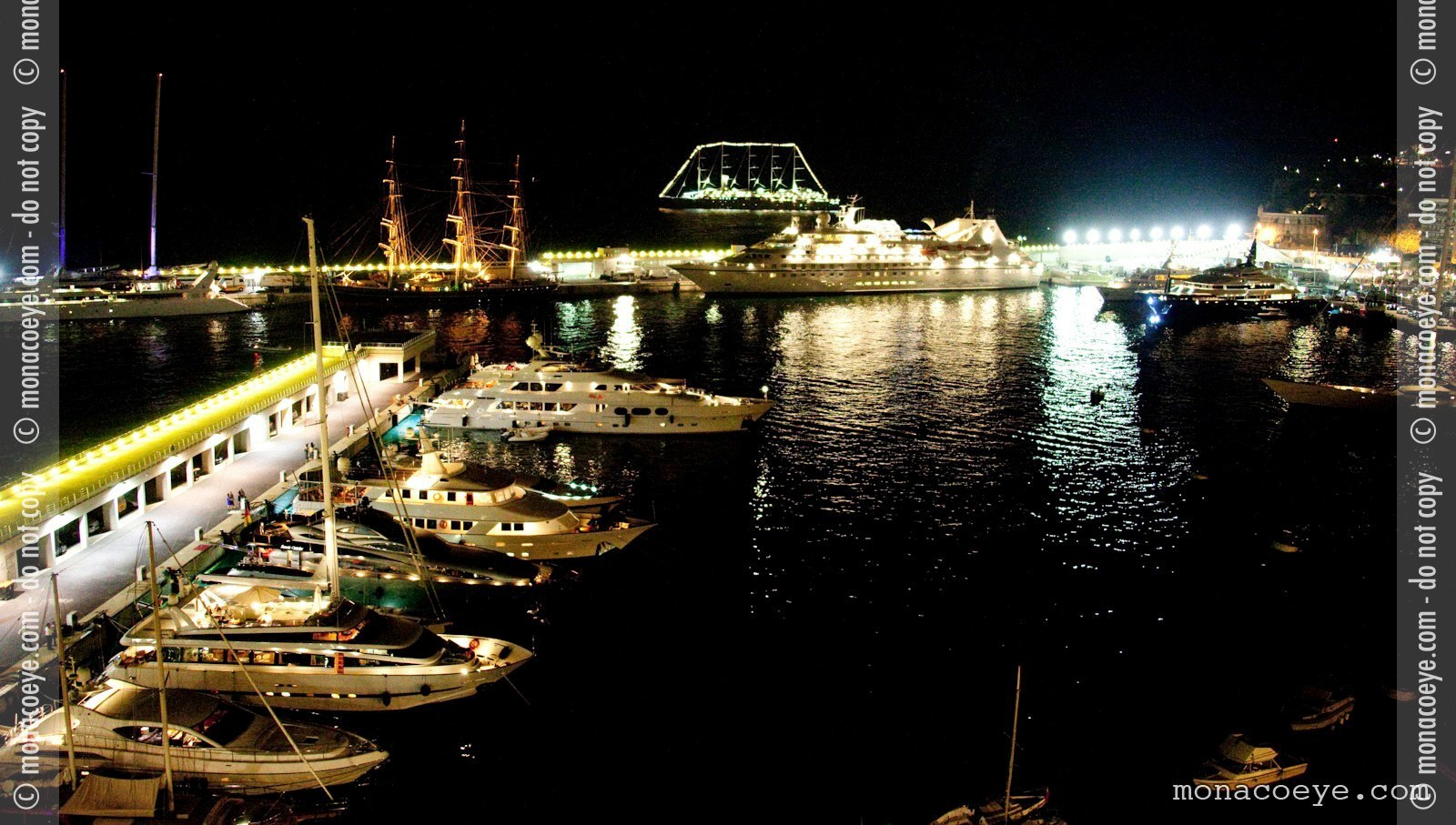 2009 Monaco Grand Prix - Port at Night