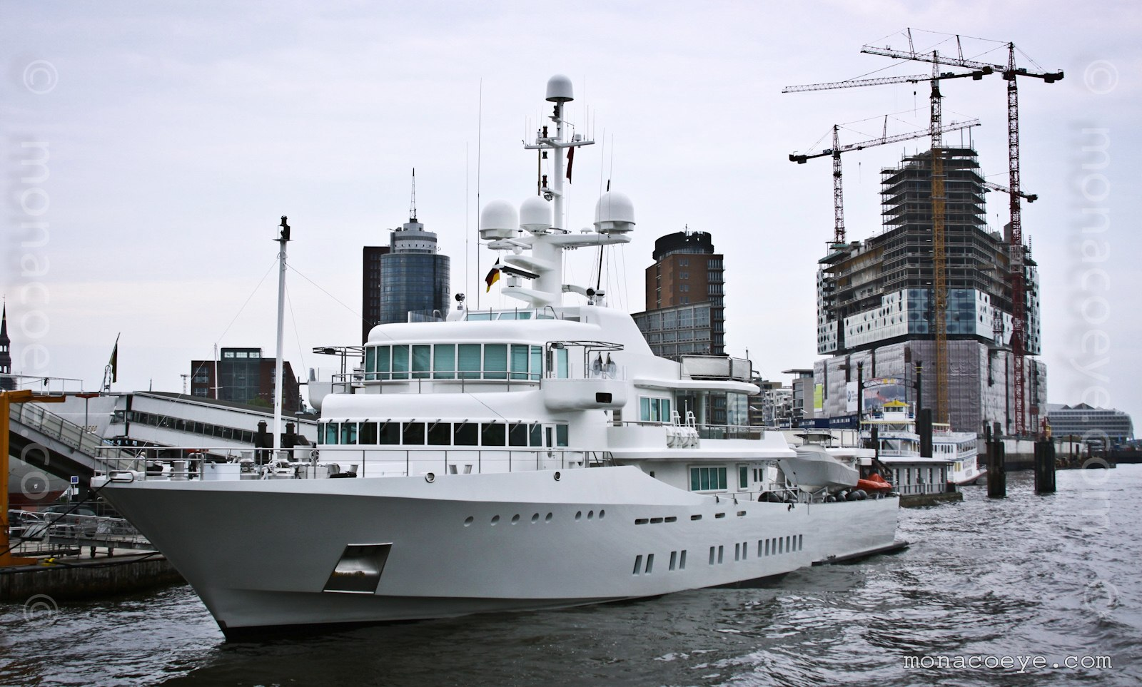 Senses. Newly refitted 59-metre yacht, built by Schweers in 1999, exterior by Francis Design, interior by Philippe Starck, architect Kusch Yachts