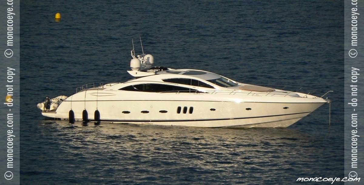 Yacht name: Sunseeker Predator 82. Photo: monacoeye • Monaco Yacht Show ...