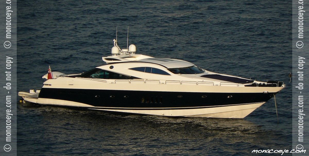 Yacht name: Sunseeker Predator 95. Photo: monacoeye • Monaco Yacht Show ...