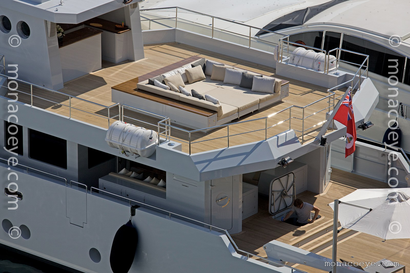 Nomade, 2011 design from Tansu Yachts. At the Superyachts Rendezvous.
