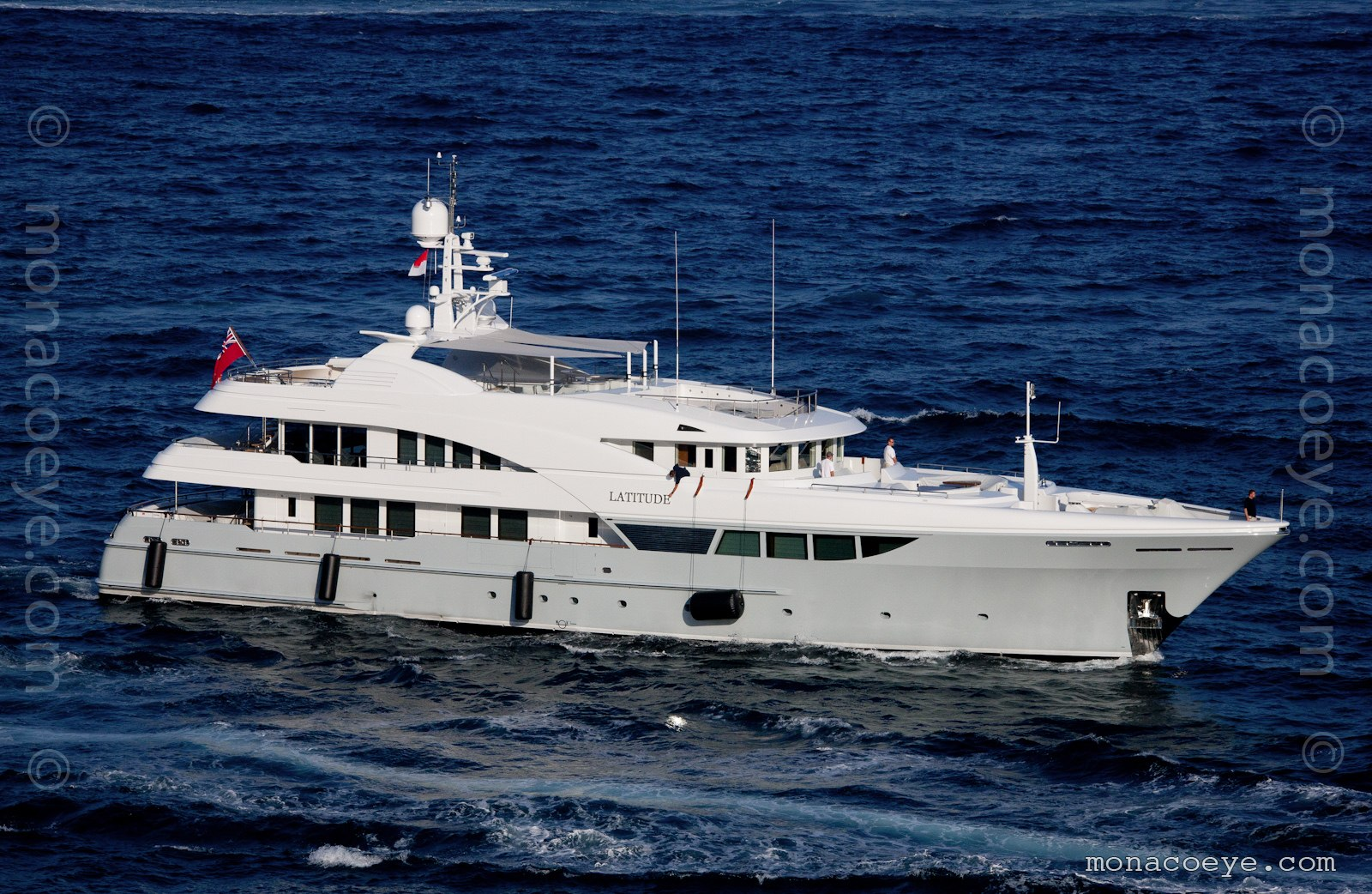 Latitude, 2011 design from Timmerman Yachts and Vripack. Originally called Alexandra, with blue hull.