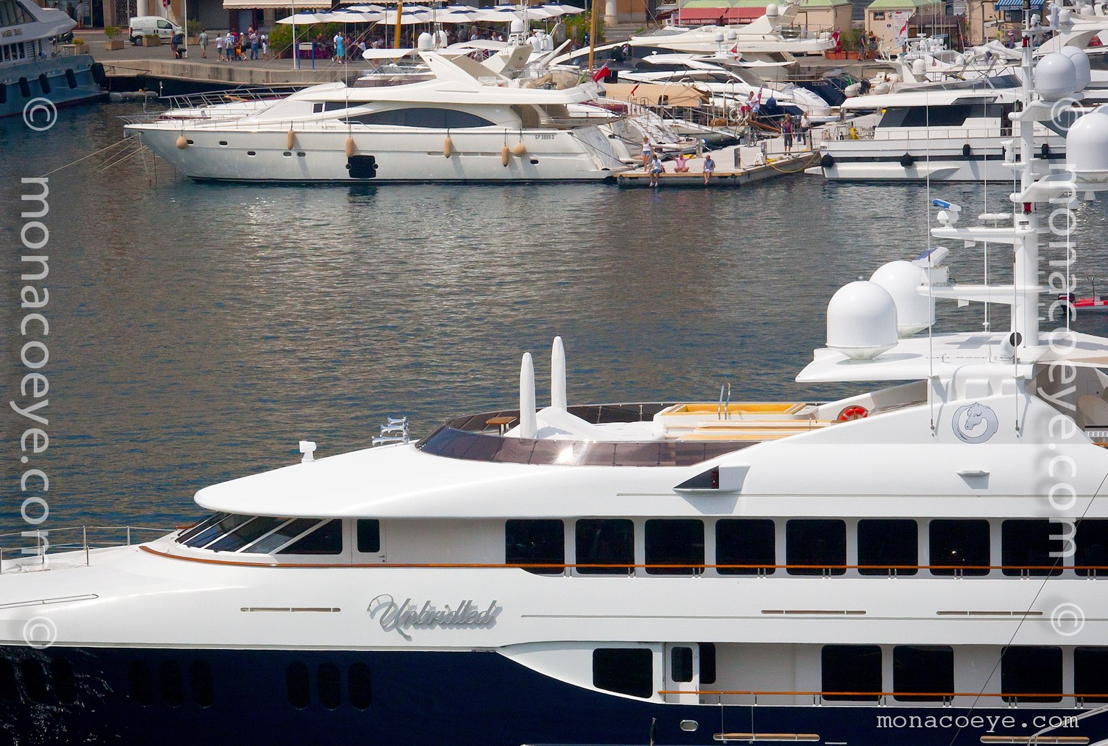 Unbridled, 2008 design from Trinity Yachts and Patrick Knowles. Seen here in Monaco.