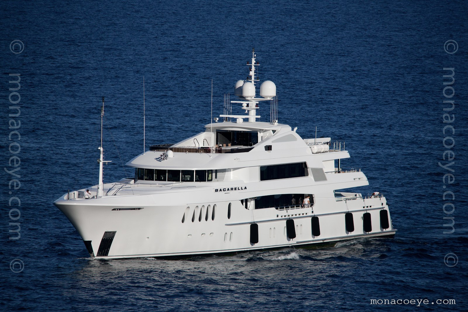 Bacarella yacht. Built by Trinity Yachts, 2009, 60 metres, interior by Bannenberg and Rowell