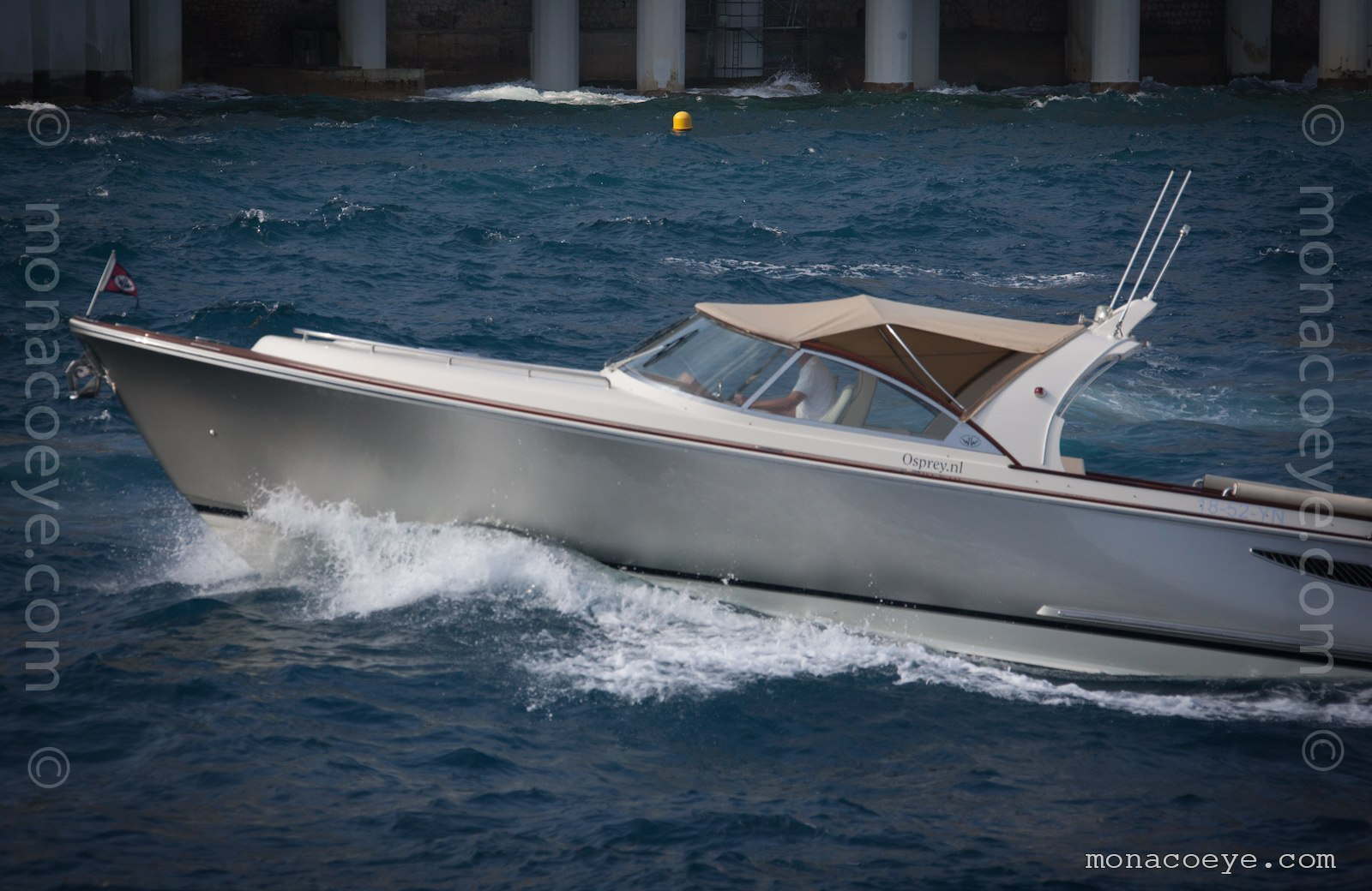 Osprey. Several models of the Wajer Osprey 37 tender, at the Monaco Yacht Show
