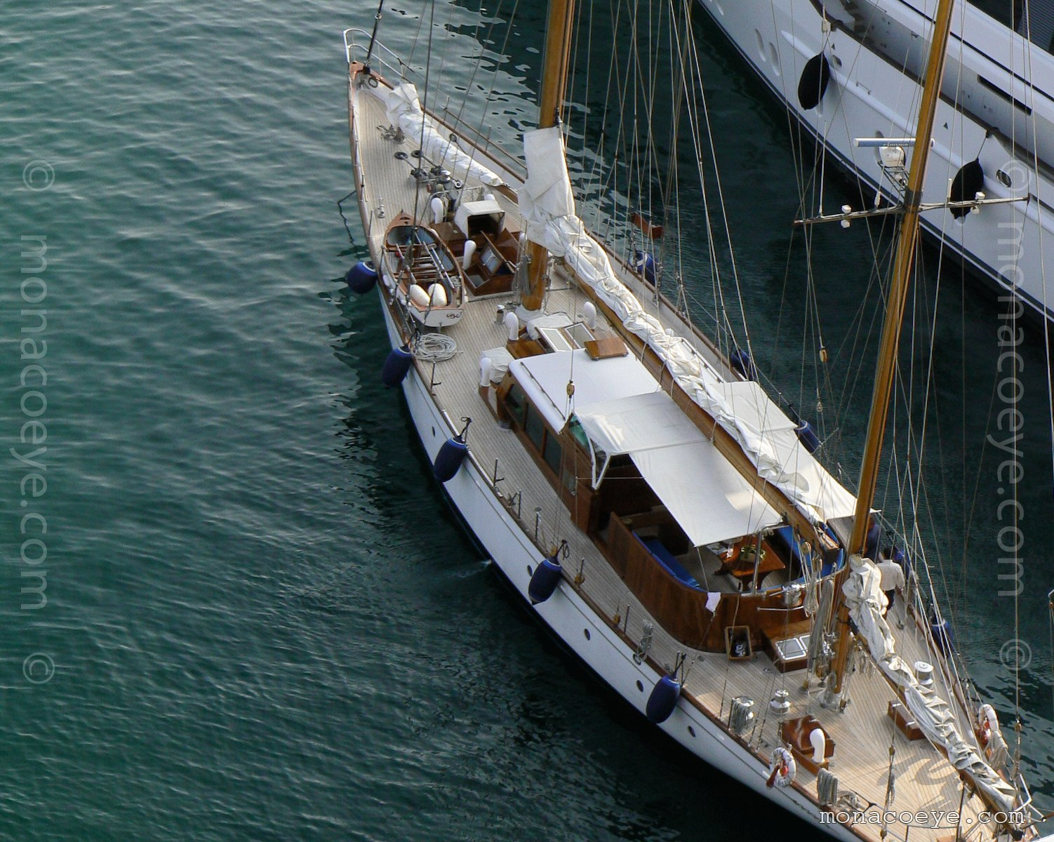 SY Wayfarer, classic sailing yacht, seen at the Monaco Yacht Show, during Classic Week 2007